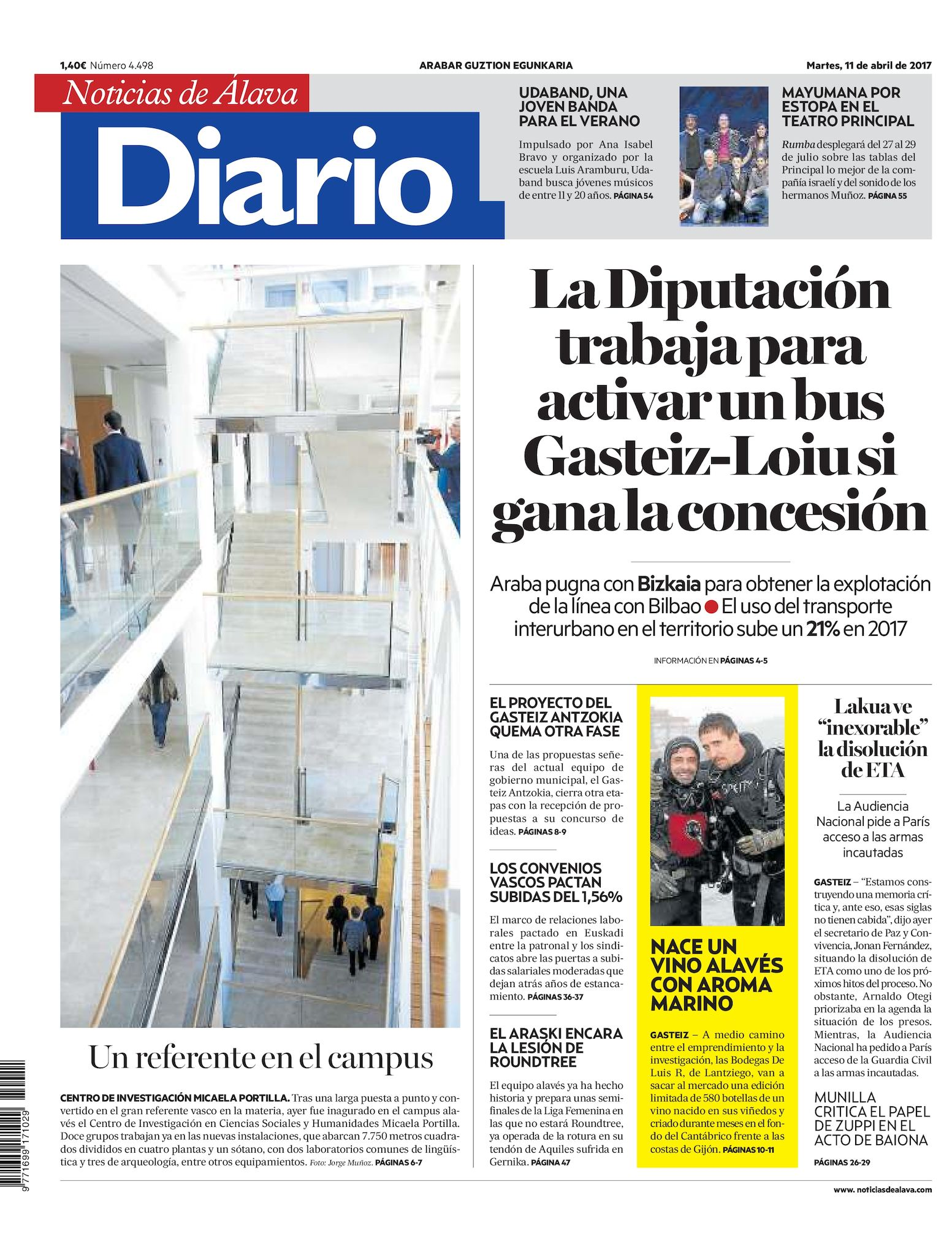 ce0ad42adf Calaméo - Diario de Noticias de Álava 20170411