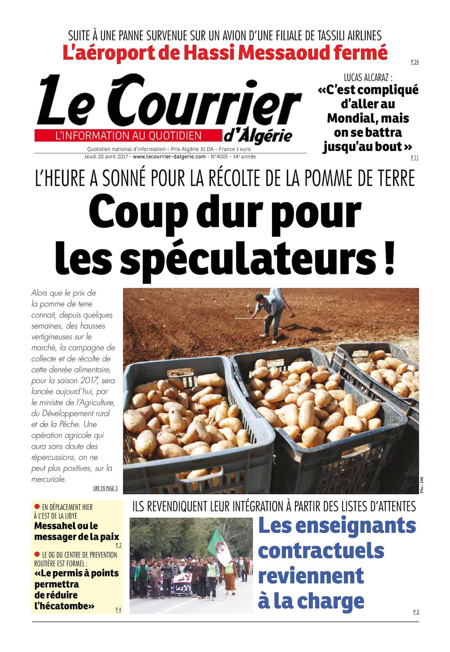 Avril Courrier Le Jeudi 2017 Calaméo 20 Du D'algérie HDIE92