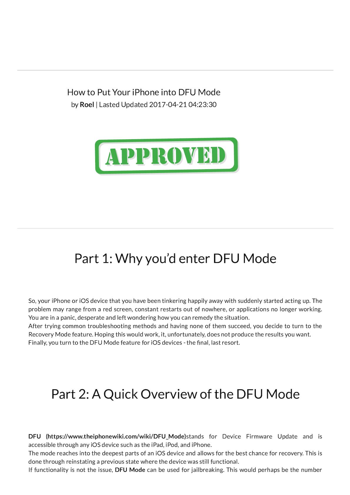 Calaméo - FoneDog-Guide How To Put Your iPhone Into Dfu Mode