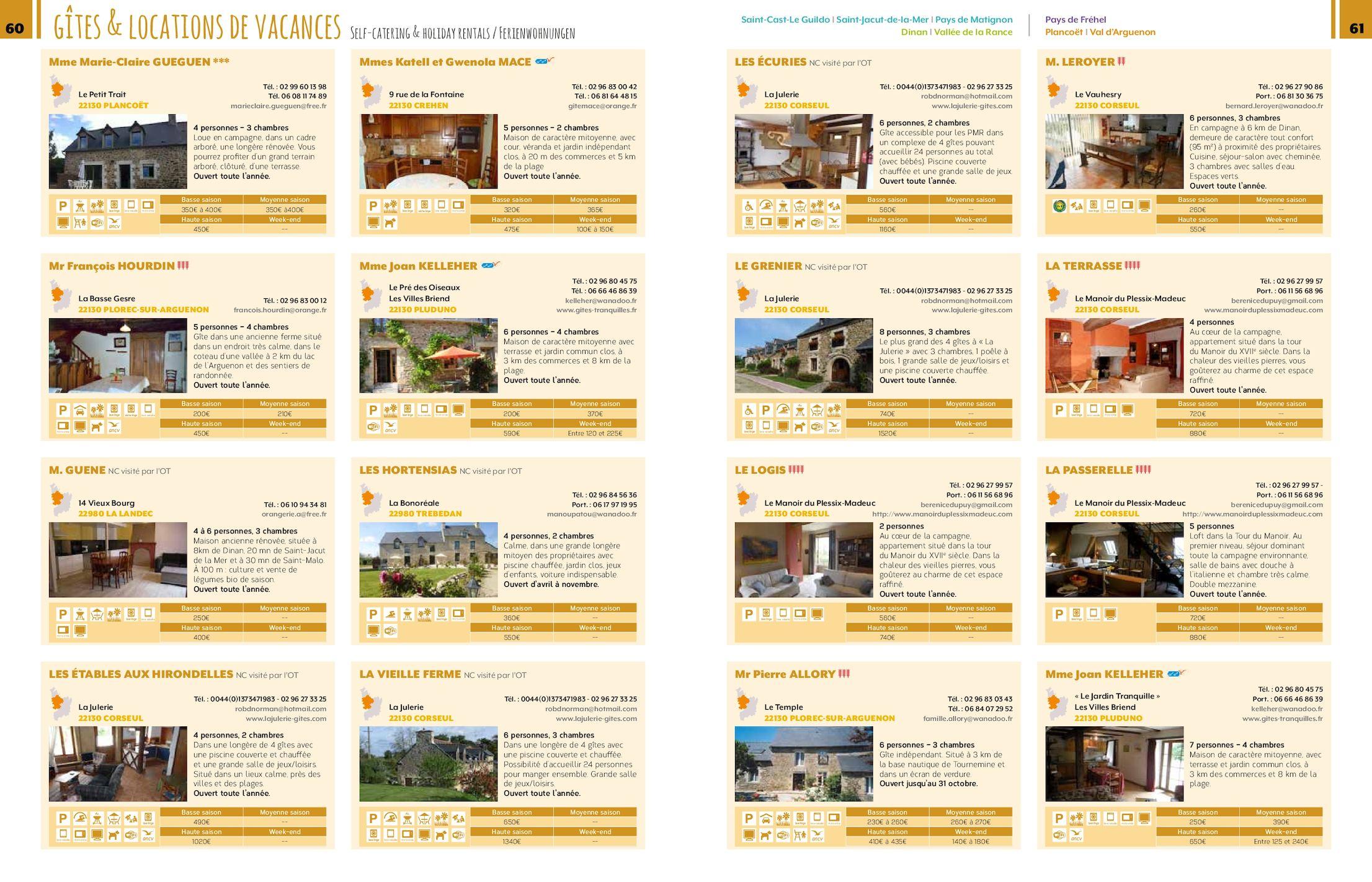 Dinan-Cap Fréhel Tourisme Hebergements et restaurants 2017 ...