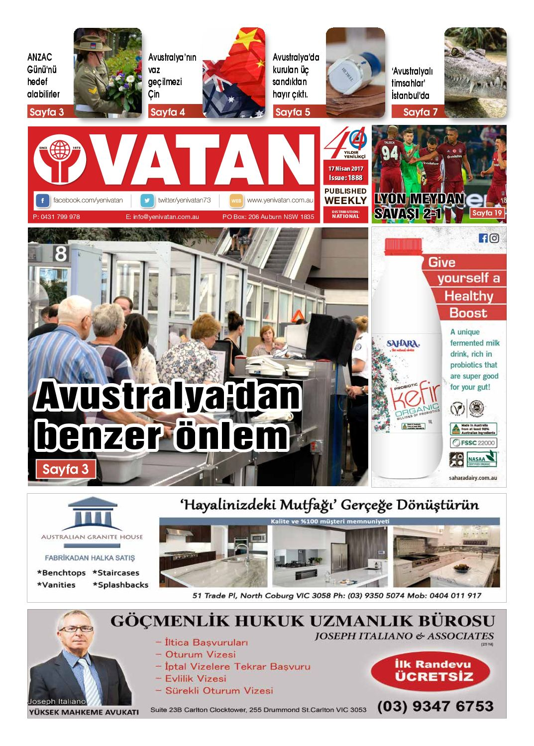 Calameo Yeni Vatan Turkish Newspaper Issue No 1888