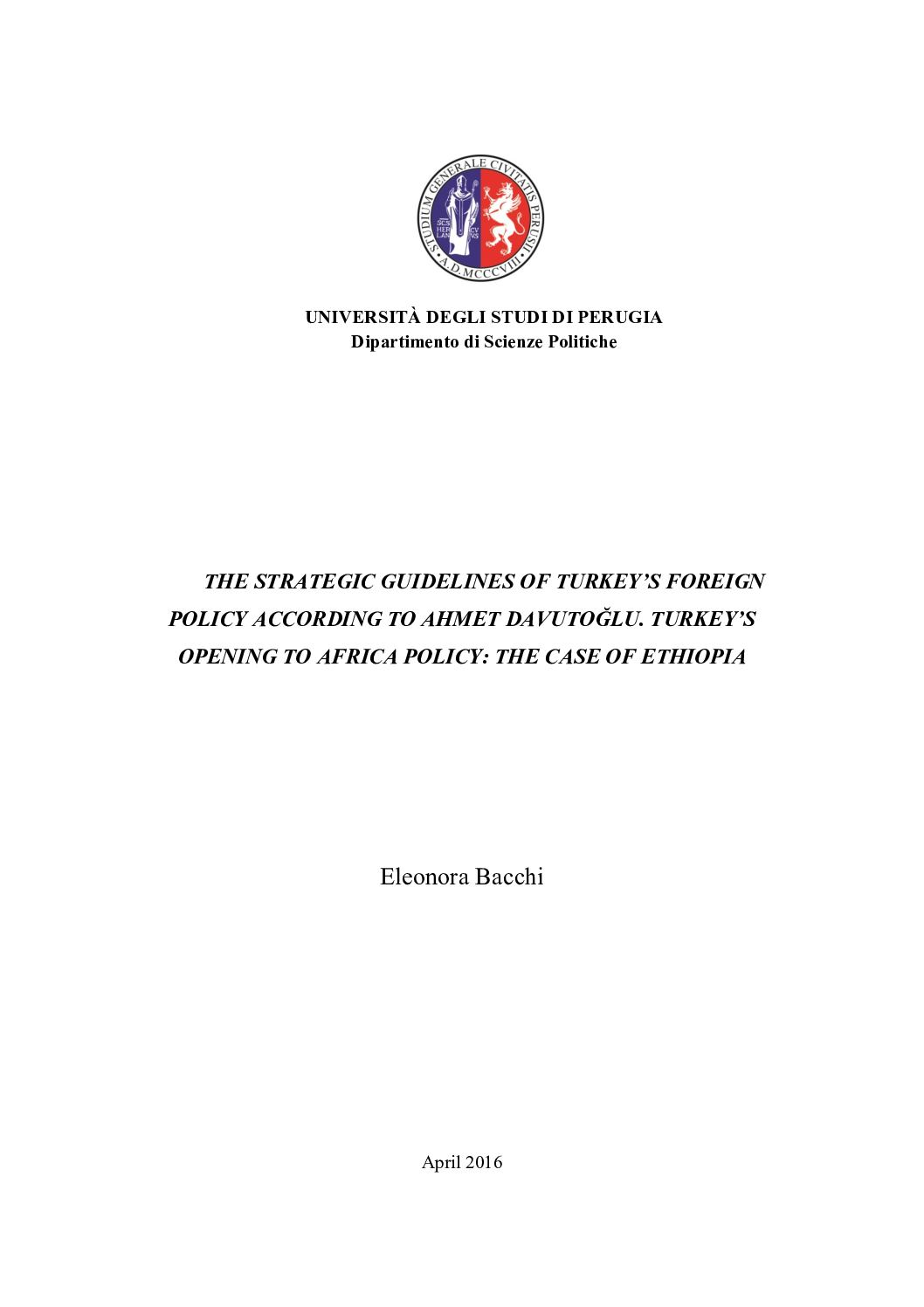 Calaméo - The strategic guidelines of Turkey's foreign