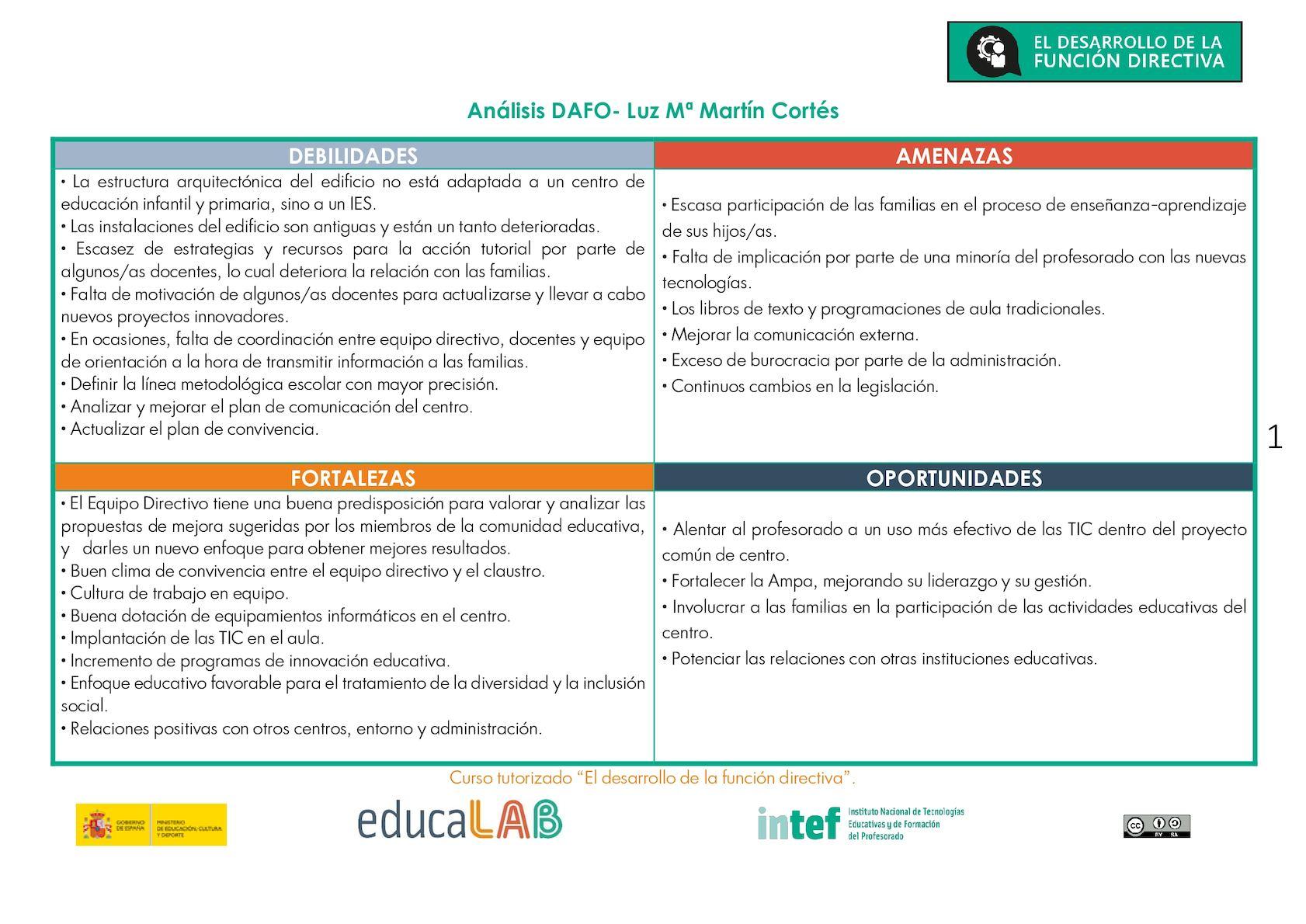 Calaméo Análisis Dafo Centro Educativo