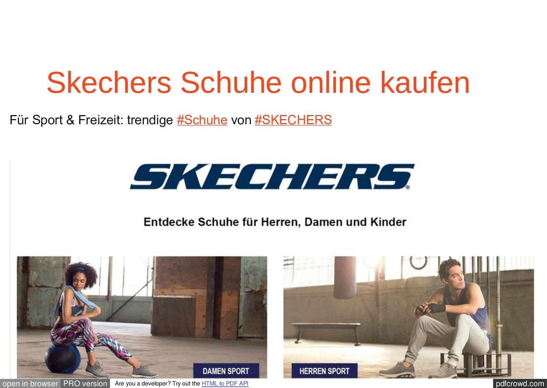 on sale b2a75 fd520 Calaméo - Für Sport & Freizeit: trendige #Schuhe von #SKECHERS