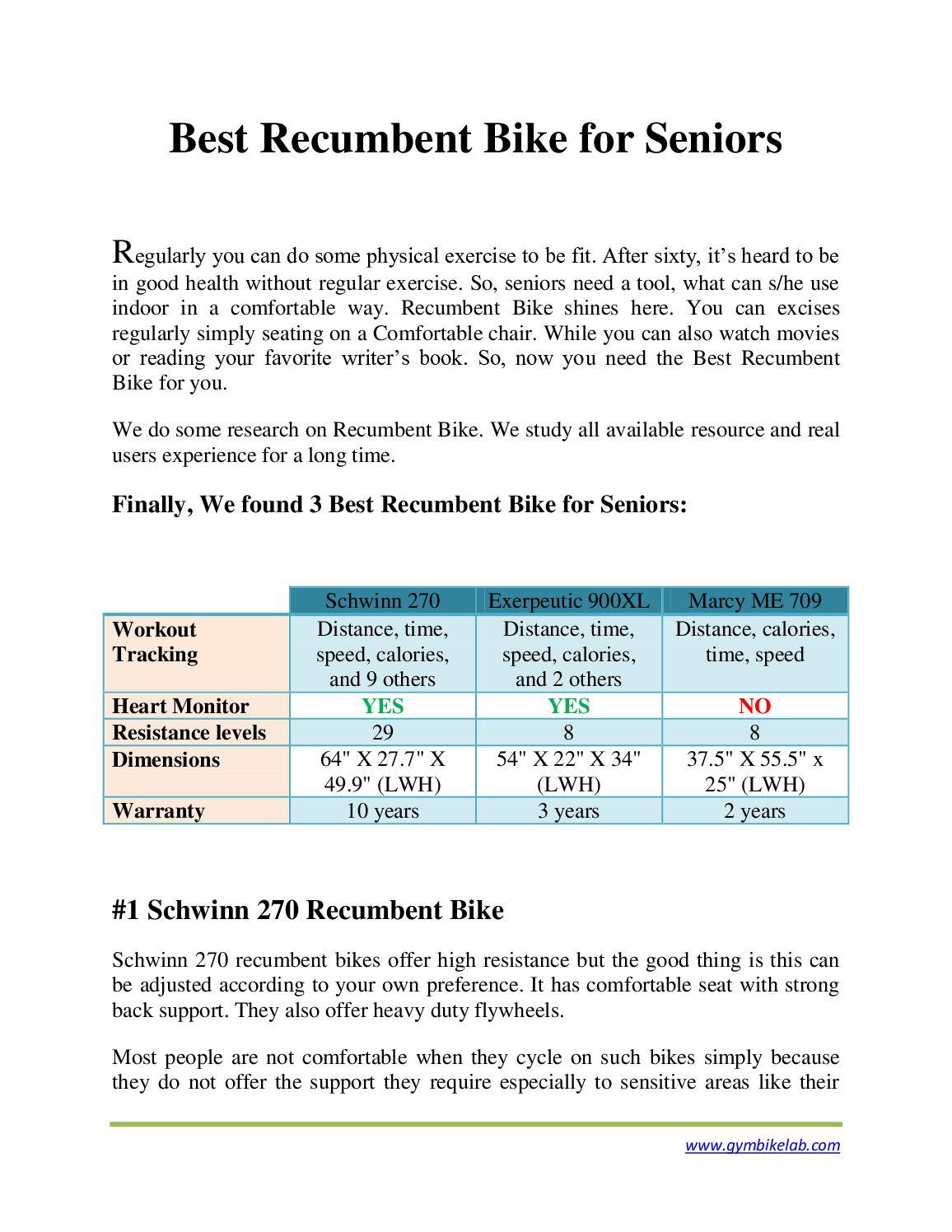 Calaméo - Best Recumbent Bike For Seniors Published