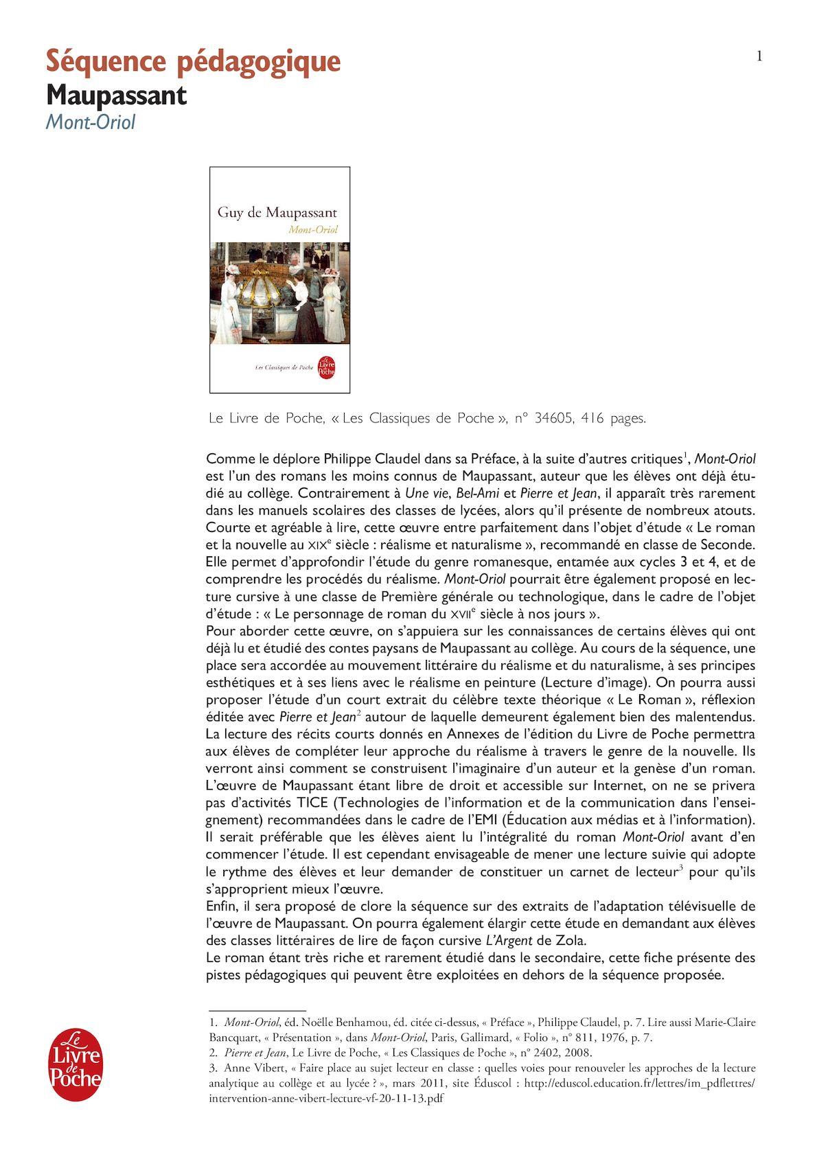 dissertation guy de maupassant dans la préface de pierre et jean affirme