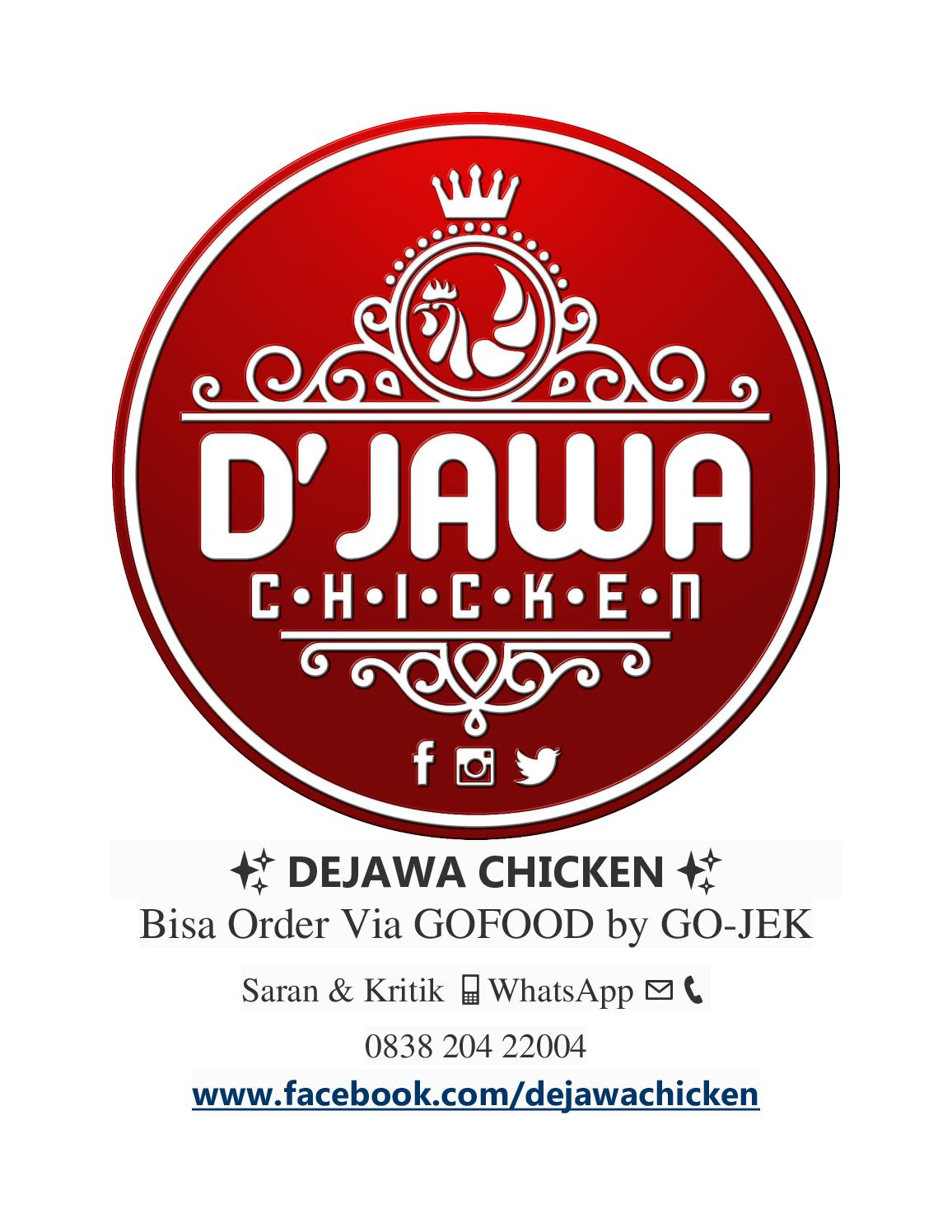 Calameo Dejawa Chicken Bandung Indonesia Kuliner Logo