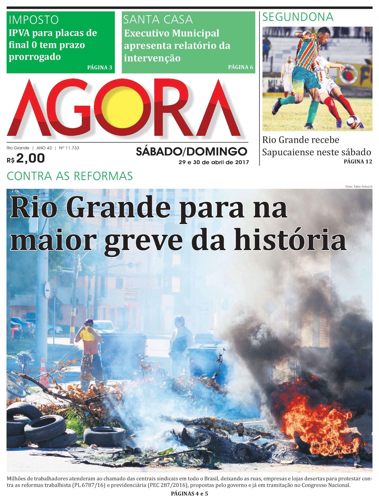 9d61141ee Calaméo - Jornal Agora - Edição 11733 - 29 e 30 de Abril de 2017