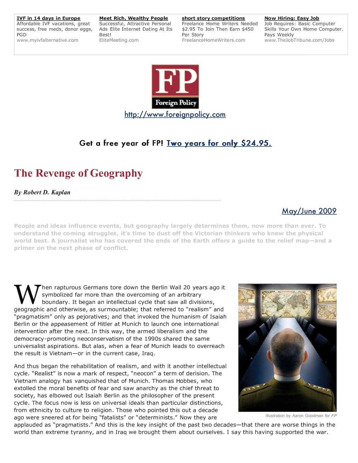 Calaméo - Kaplan 2009 Revenge Of Geography