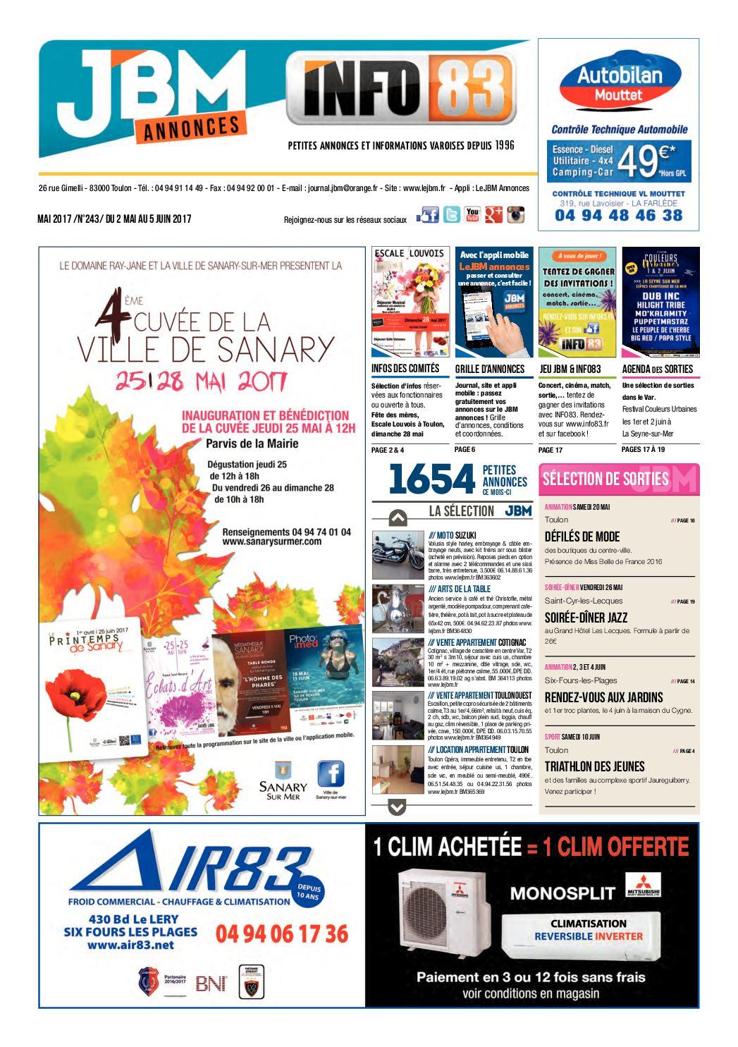 Calaméo - Journal JBM Annonces n°243 Mai 2017 c865214ca1a