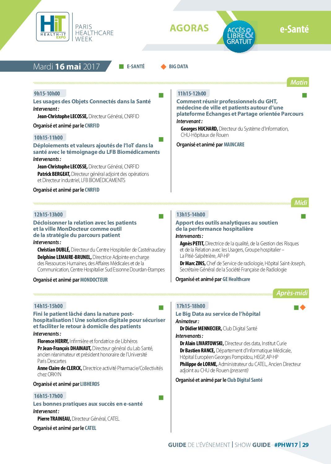 Guide De Lévénement Paris Healthcare Week Calameo Downloader
