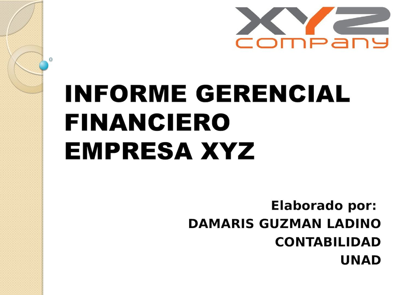 Calaméo Informe Gerencial Financiero