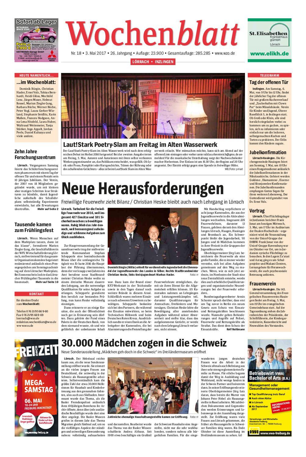 Calameo Wochenblatt Loerrach