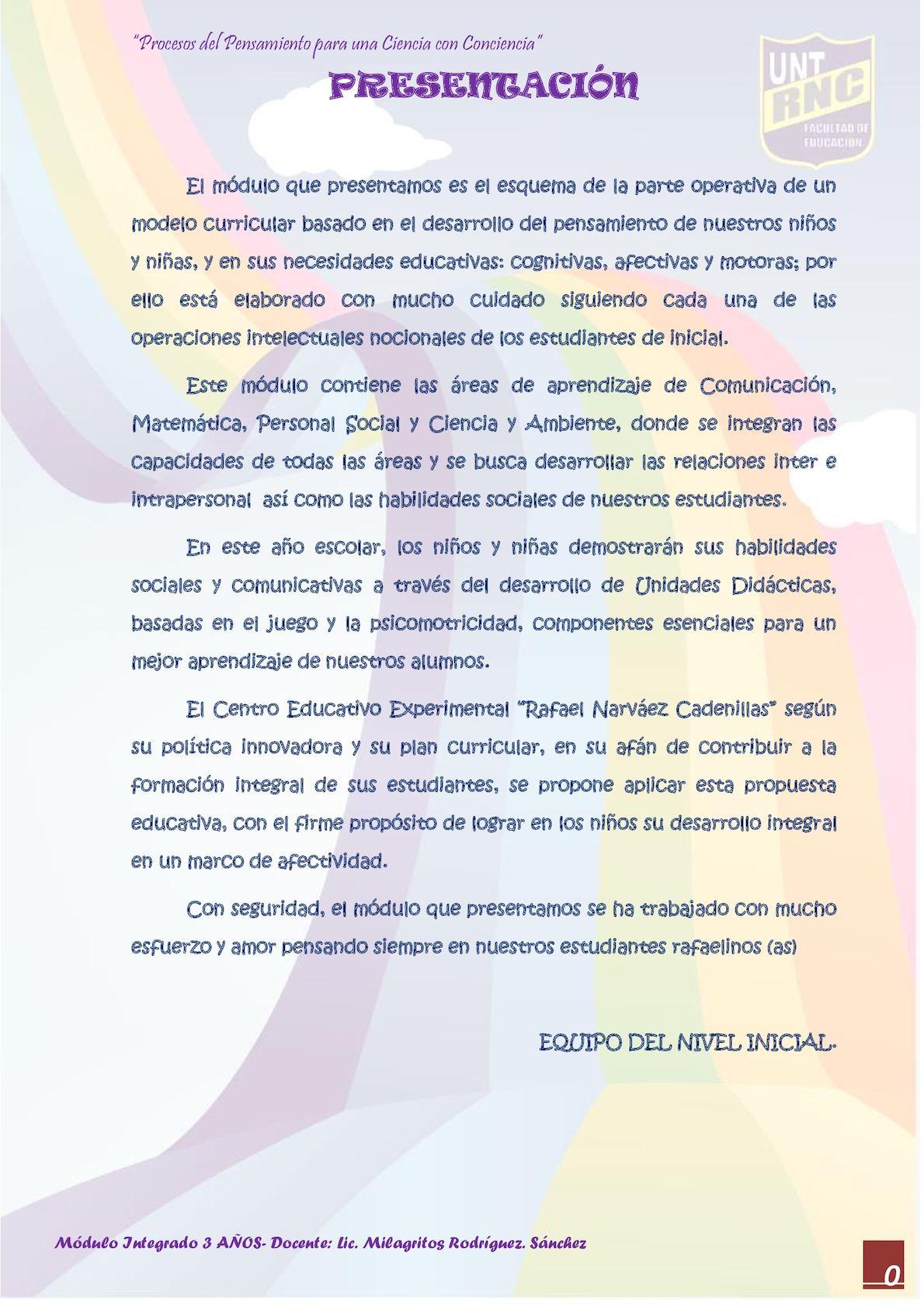Calaméo Modulo 3 Años 2017