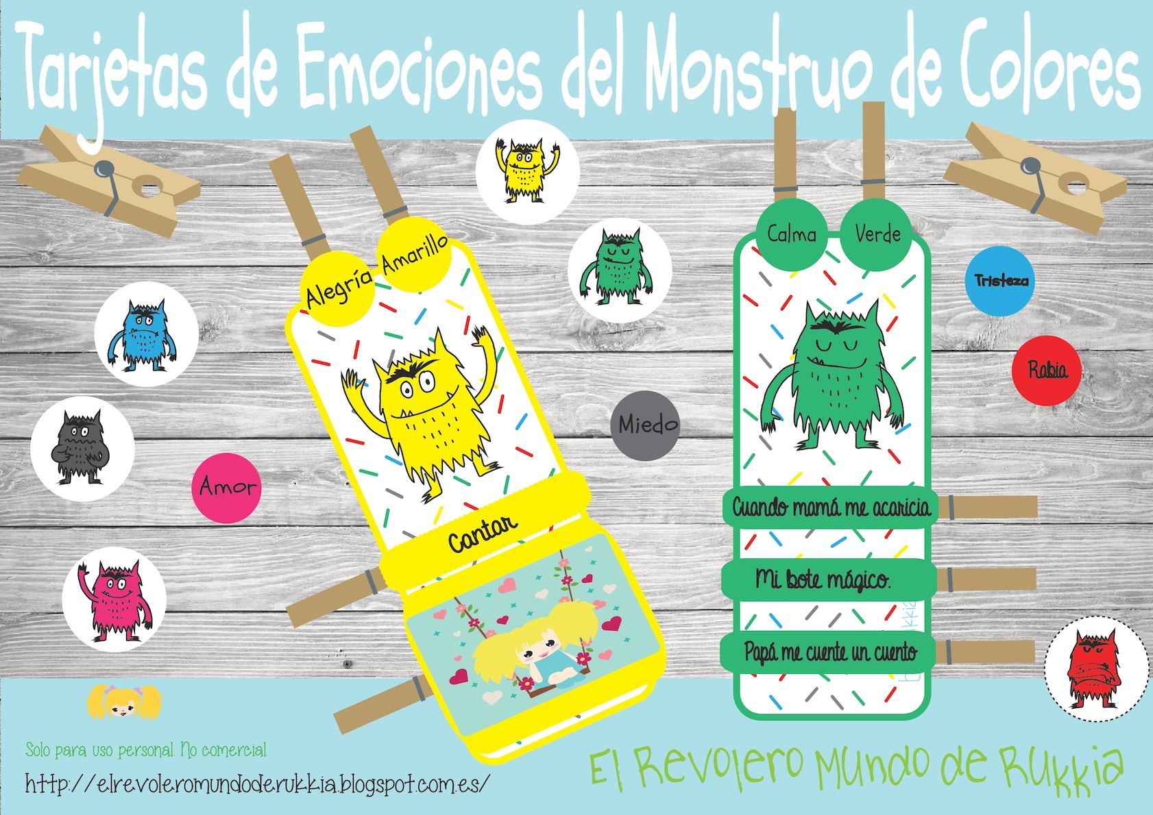 Calameo Tarjetas De Emociones Del Monstruo De Colores A4
