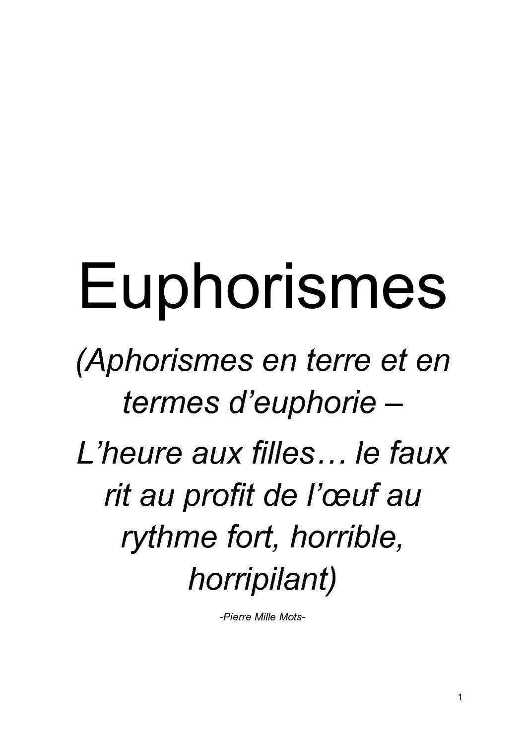 Calameo Euphorismes