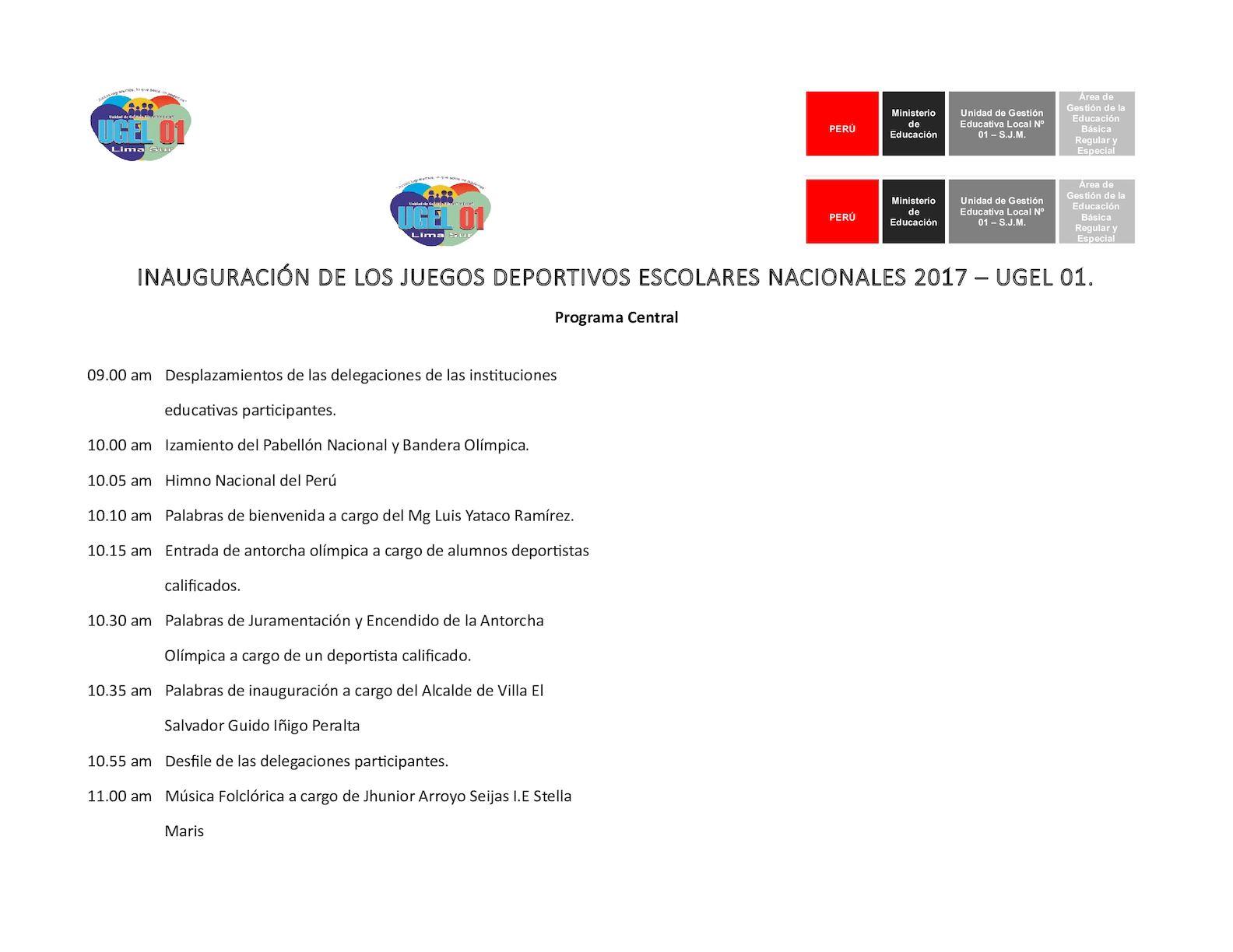 Calaméo Programa De Inauguracion Juegos Deportivos