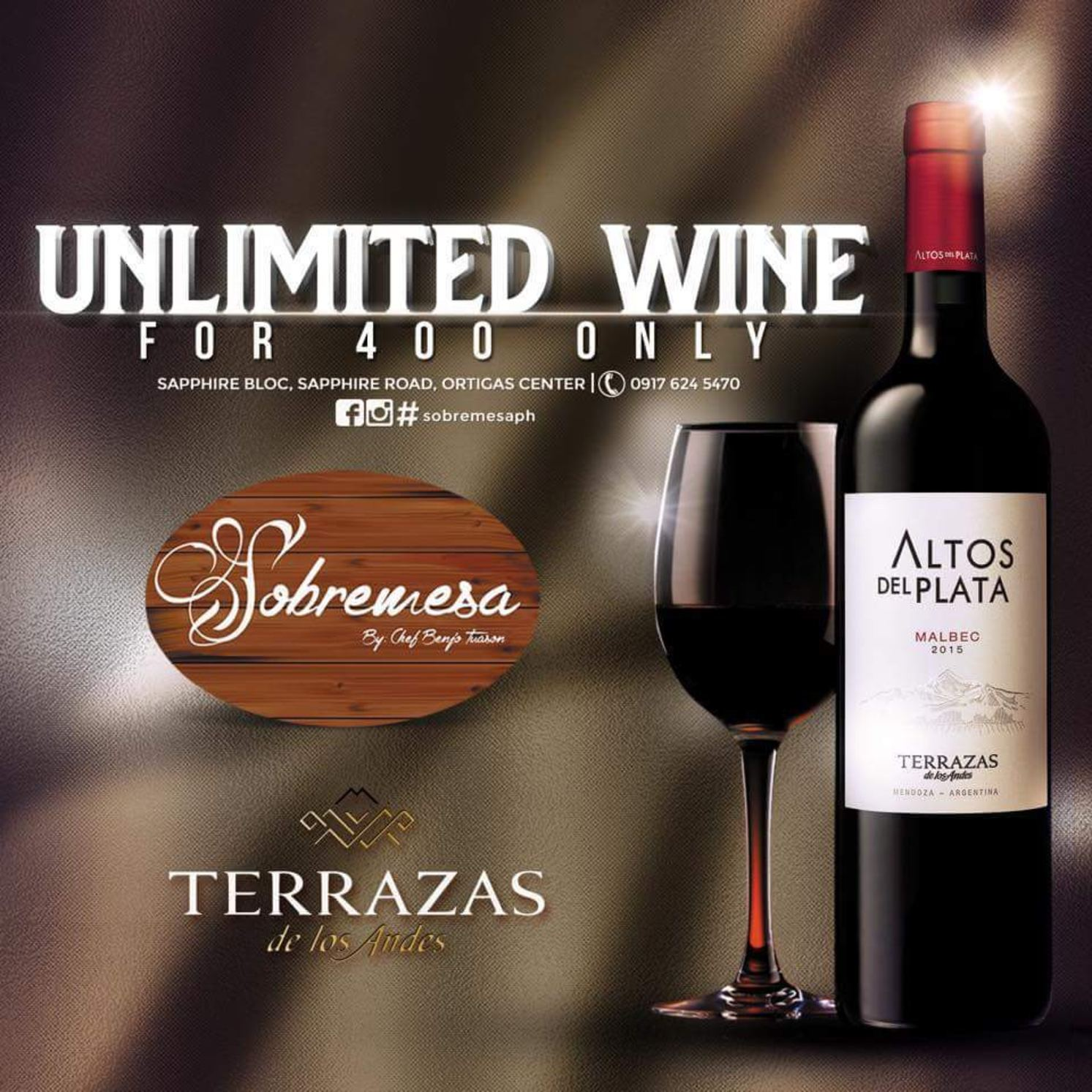 Calaméo Enjoy Unlimited Wine For Only P400 At Sobremesa