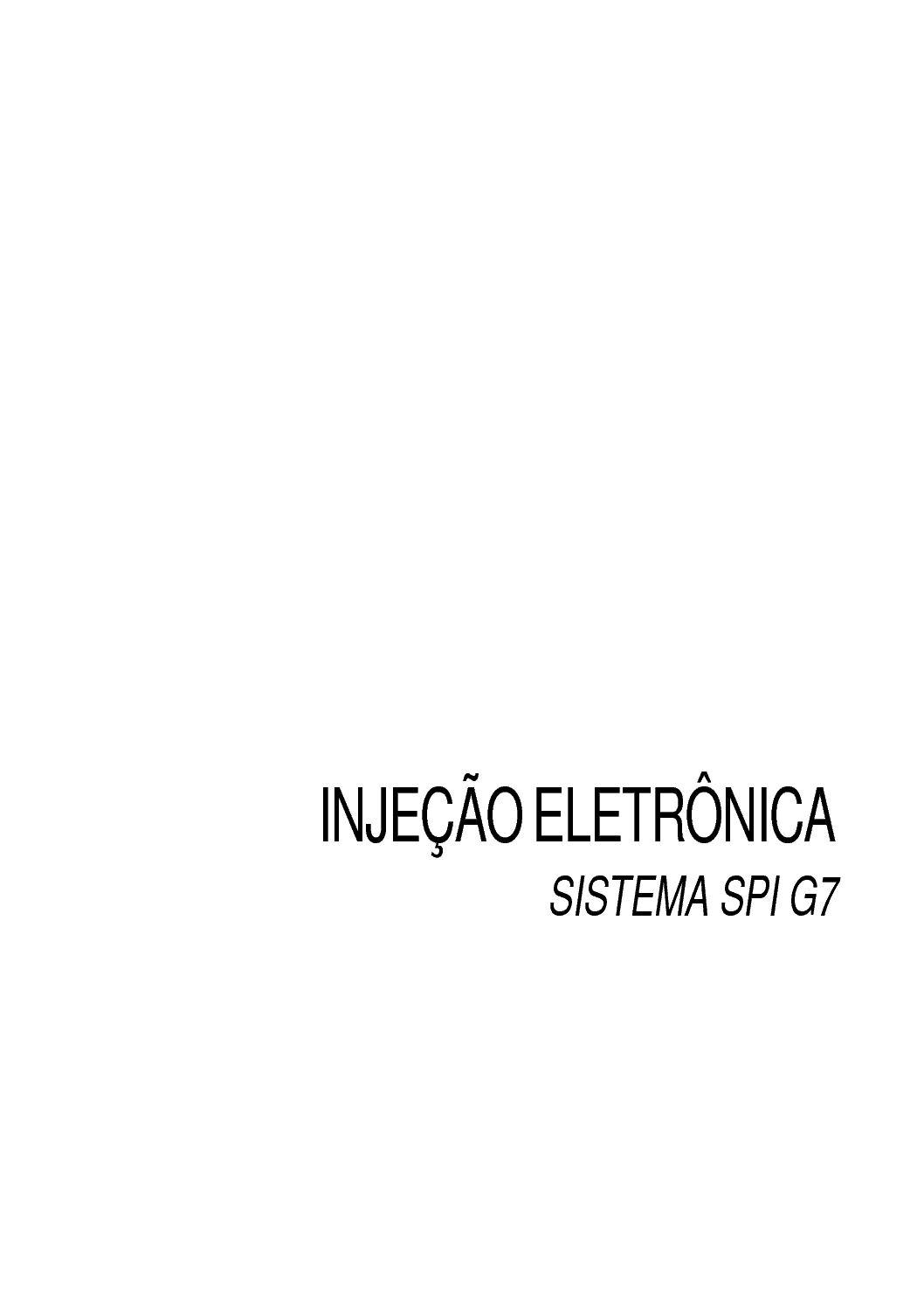 Automação - Injeção Eletrônica SPI G7