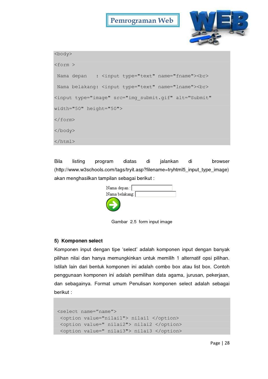 Pemograman Web Kelas X Semester II - CALAMEO Downloader