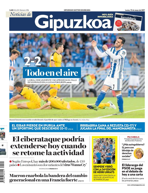 edd82d0740 Calaméo - Noticias de Gipuzkoa 20170515