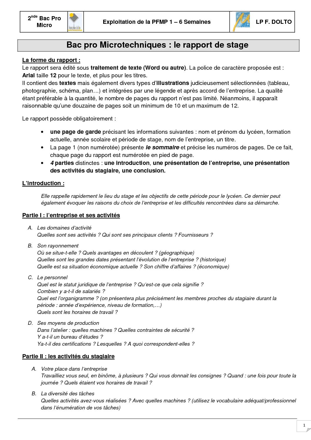 Calaméo 101 Préparation Du Rapport De Stage Pfmp1 Annee De