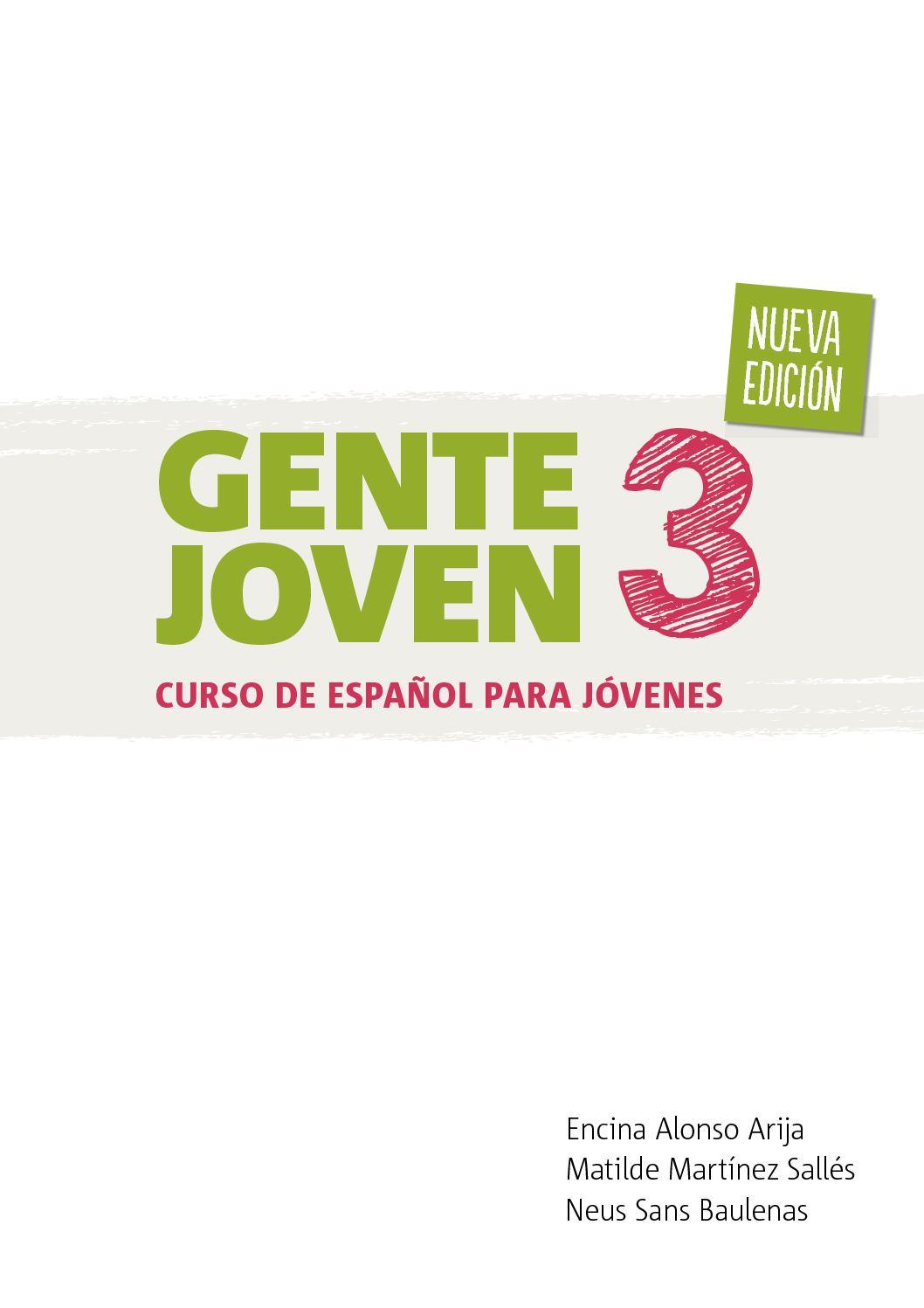 Calaméo Gente Joven 3 Nueva Edición
