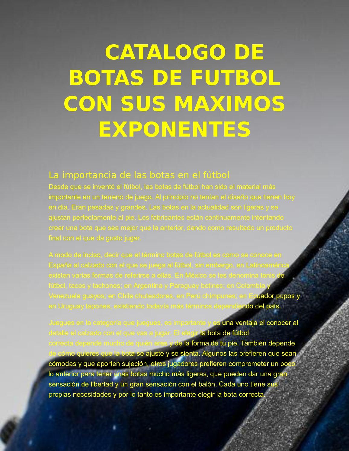 791a2128e Calaméo - Botas De Fútbol