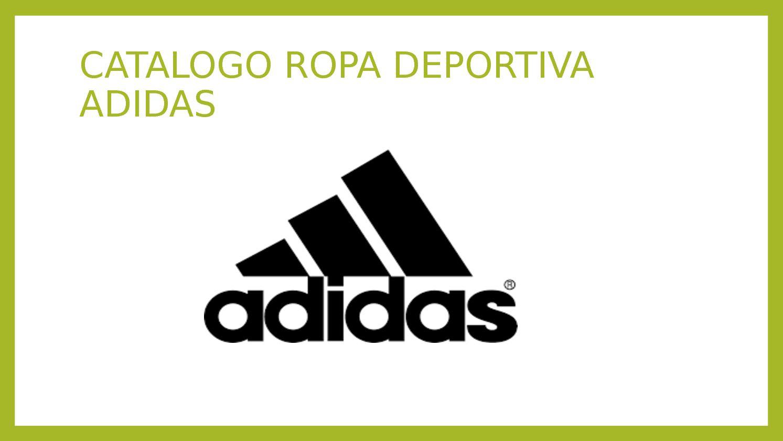 adidas ropa deportiva catalogo