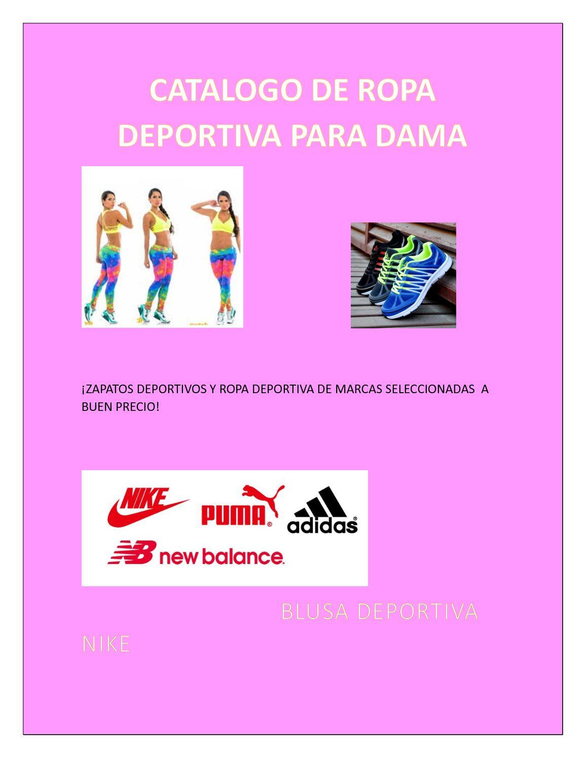 reputable site a9ef5 27ce5 Calaméo - Catalogo De Ropa Deportiva Para Dama