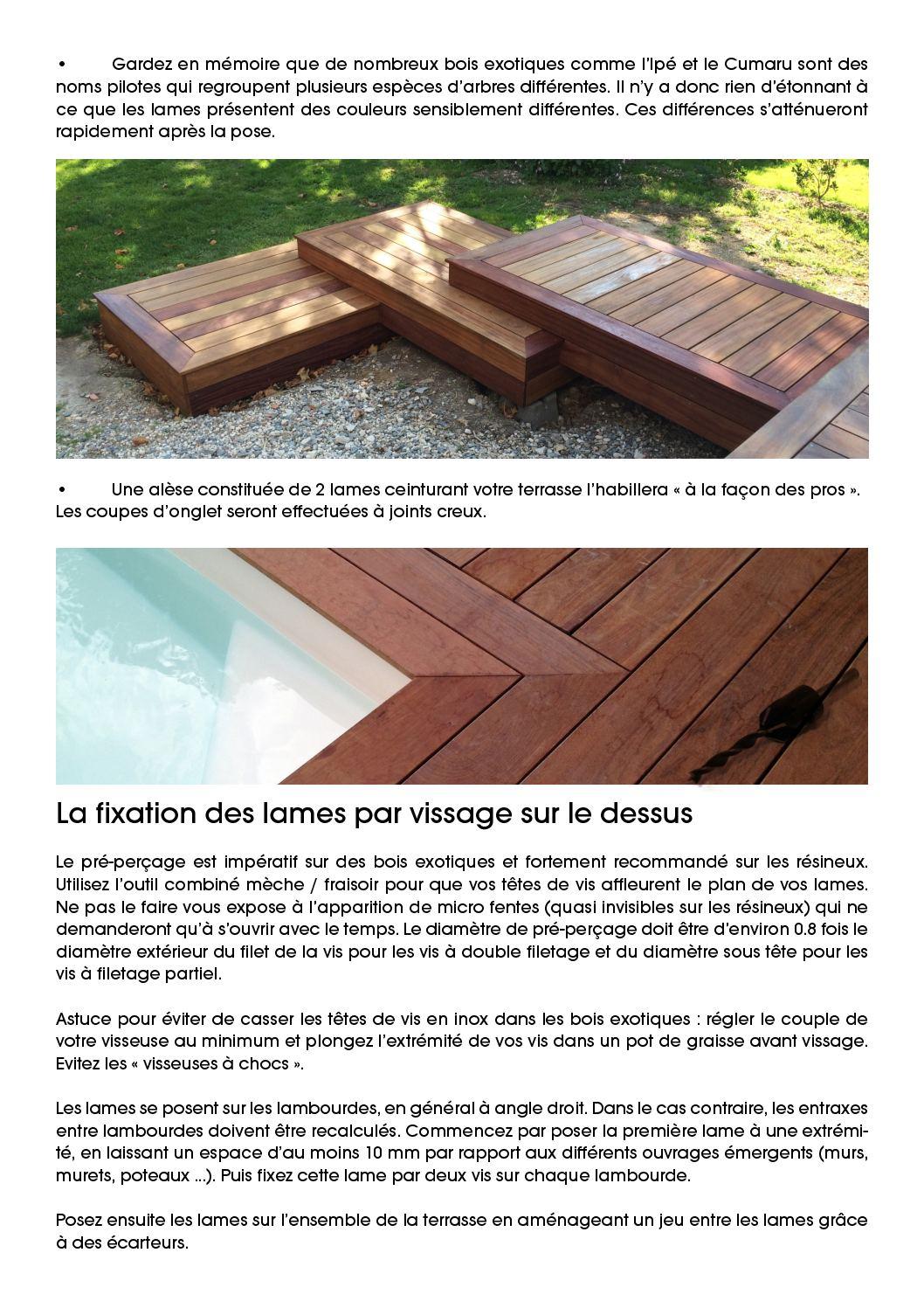 Poteau Bois Pour Terrasse conseil de pose terrasse bois nature bois concept - calameo