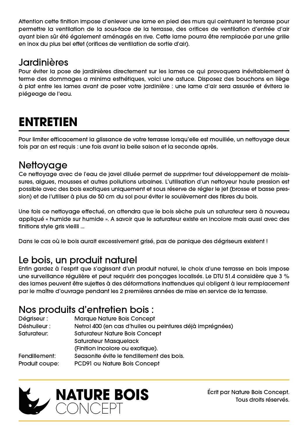 Conseil De Pose Terrasse Bois Nature Bois Concept Calameo
