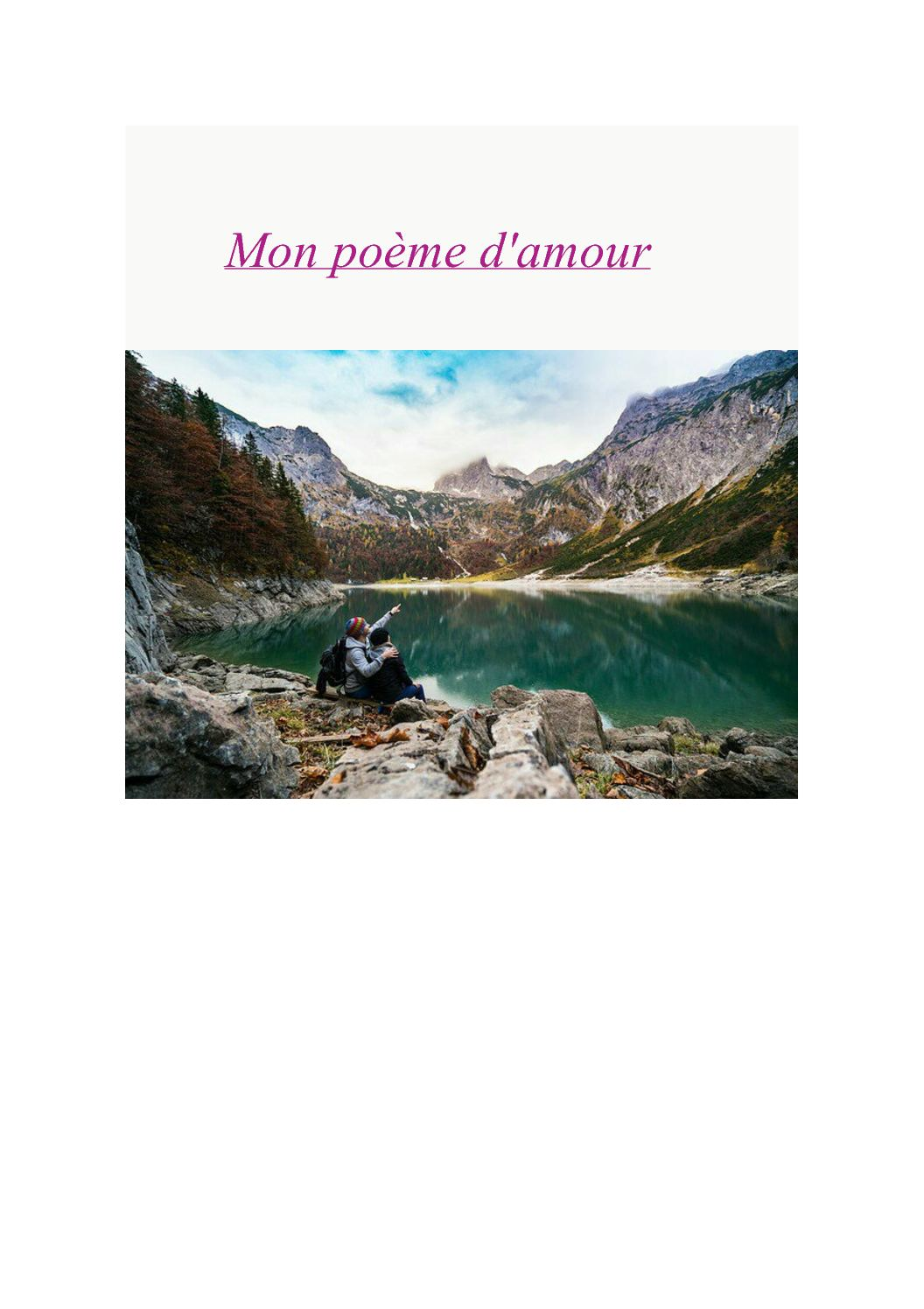 Calaméo Mon Poème Damour