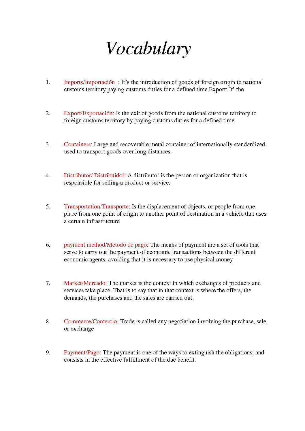 Calaméo - Vocabulario 2