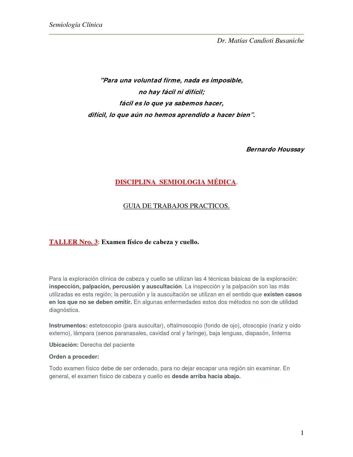 Cuello de Cabeza Calaméo Examen Fisico y OPnw0k