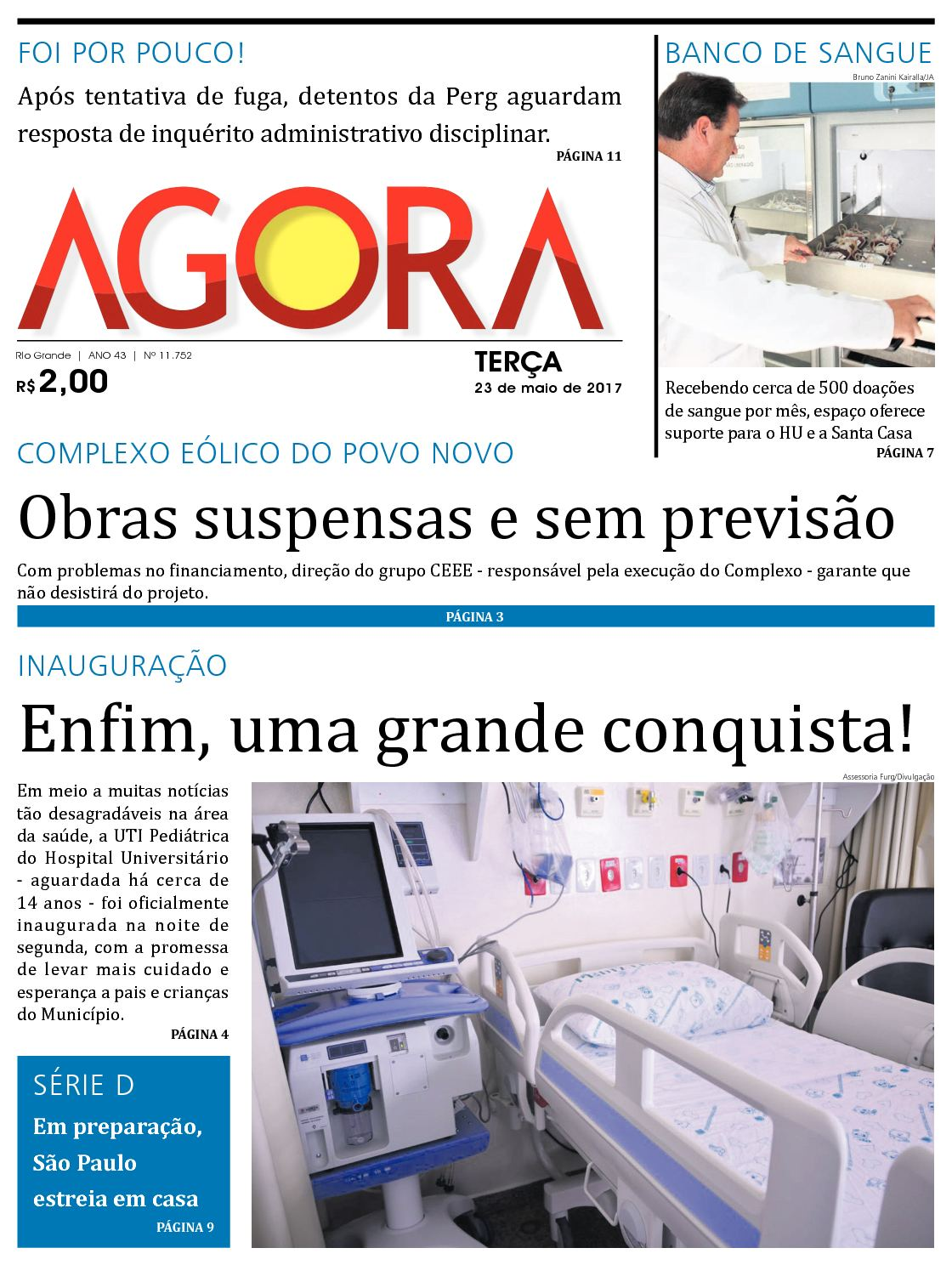 381ad8bd0e6 Calaméo - Jornal Agora - Edição 11752 - 23 de Maio de 2017