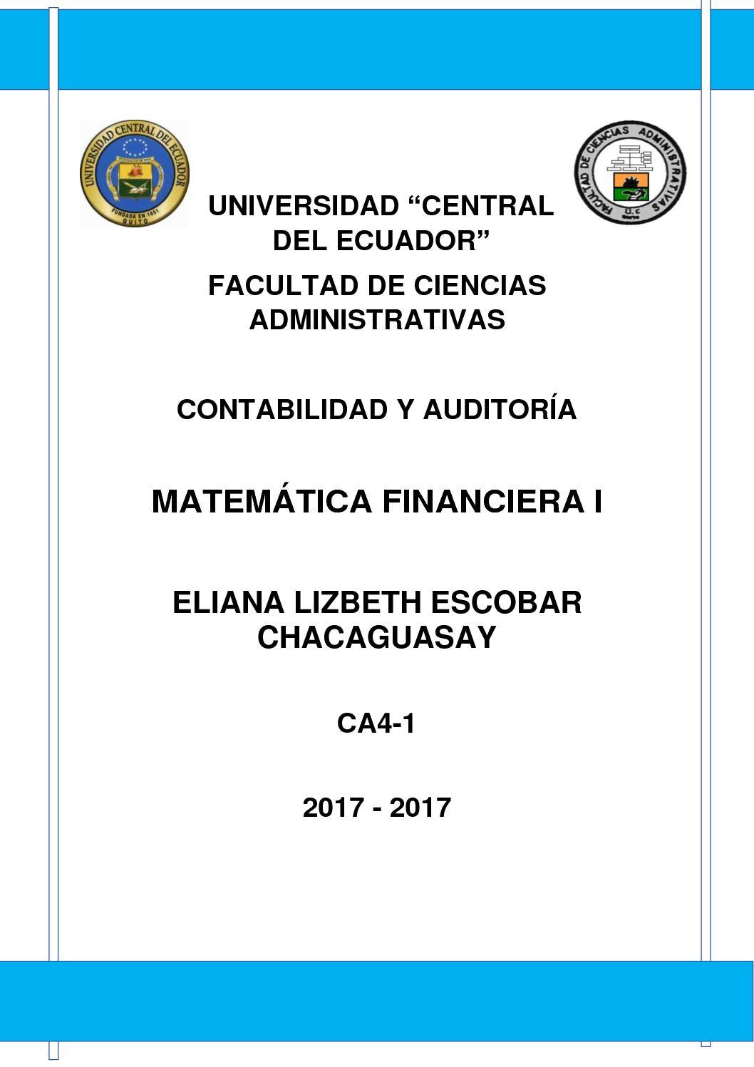 Calaméo Portafolio De Matematica Financiera I