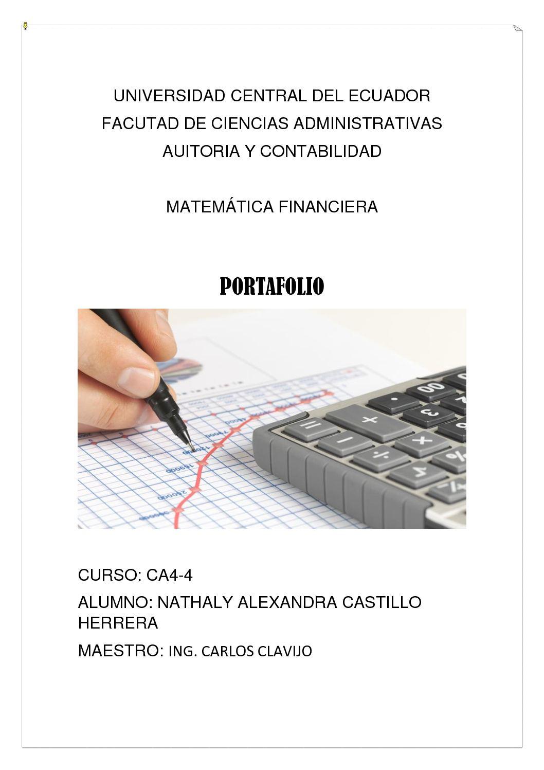 Matematica Financiera Alexandra Castillo