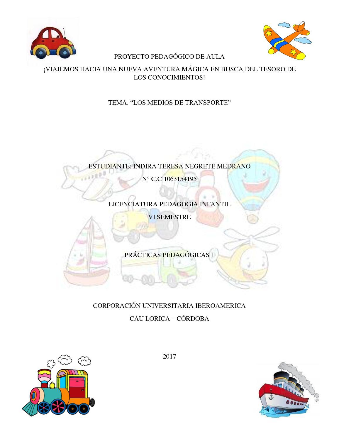 Calaméo Poyecto Pedagógico De Aula Medios De Transportes