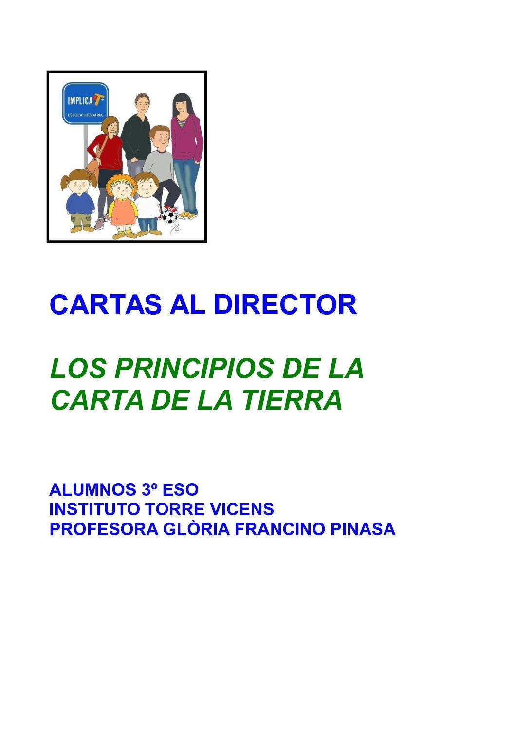 Calaméo - Cuaderno Cartas Al Director Principios Carta Tierra
