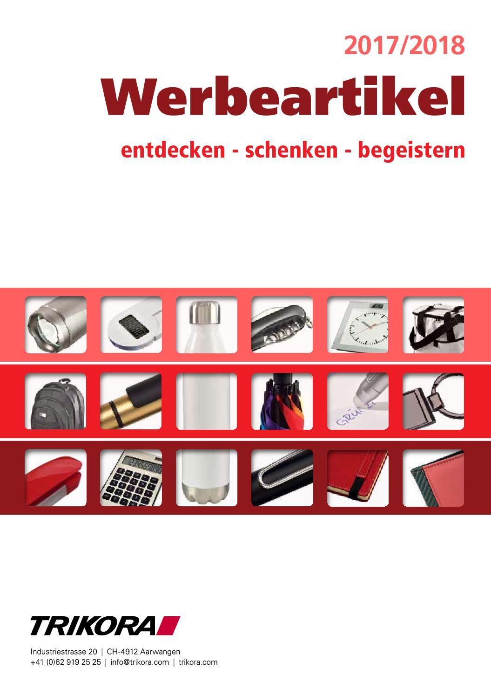 Calaméo Werbeartikel Katalog 2017 2018 Mit Richtpreisen
