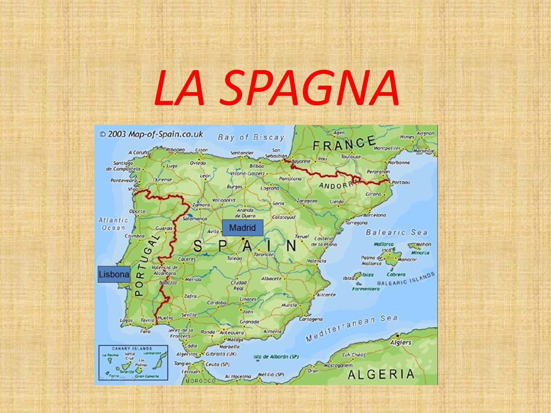 Cartina Spagna Politica Con Regioni E Capoluoghi