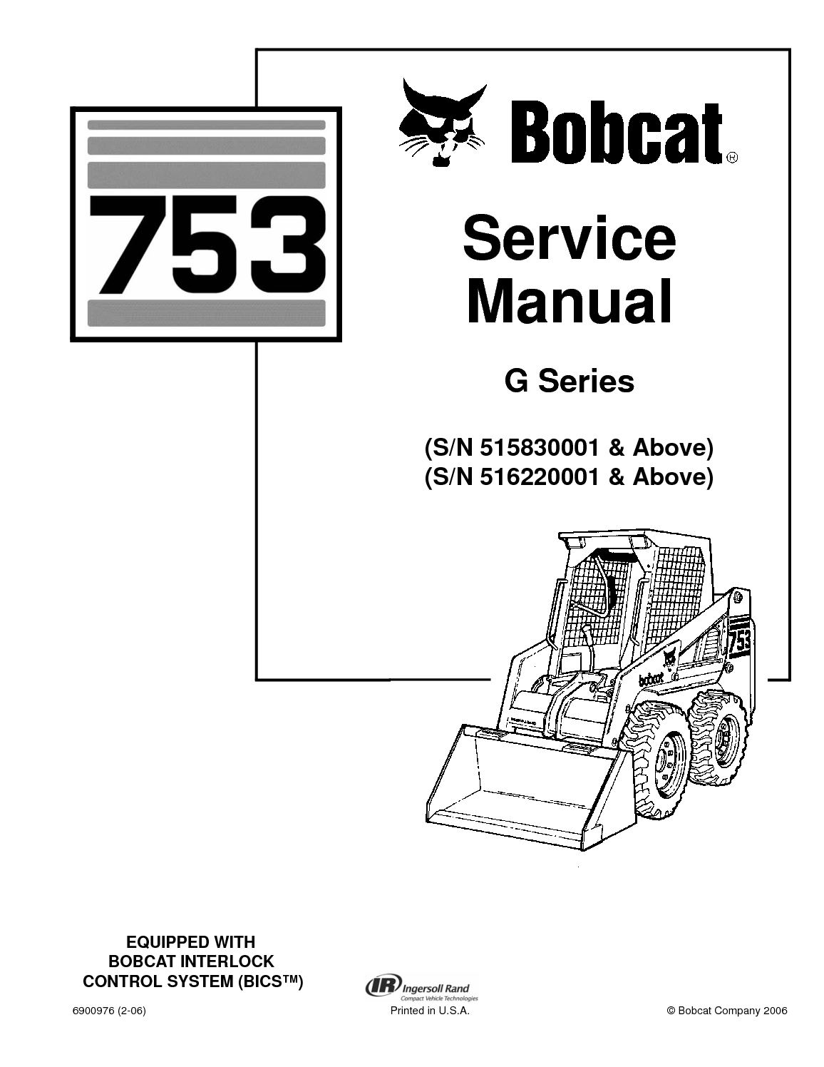 Calaméo - BOBCAT 753 SKID STEER LOADER Service Repair Manual