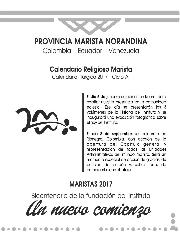 Calendario Religioso.Calendario Religioso Trimestre 3 2017 Calameo Downloader