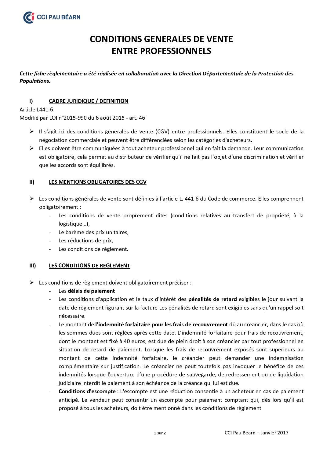 Calameo Reglementation Commerciale Conditions Generales De Vente