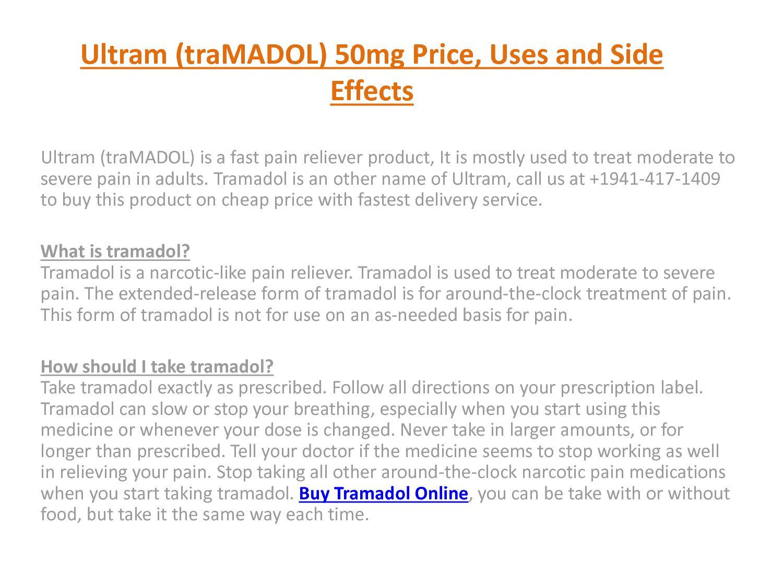 Tramadol Street Value