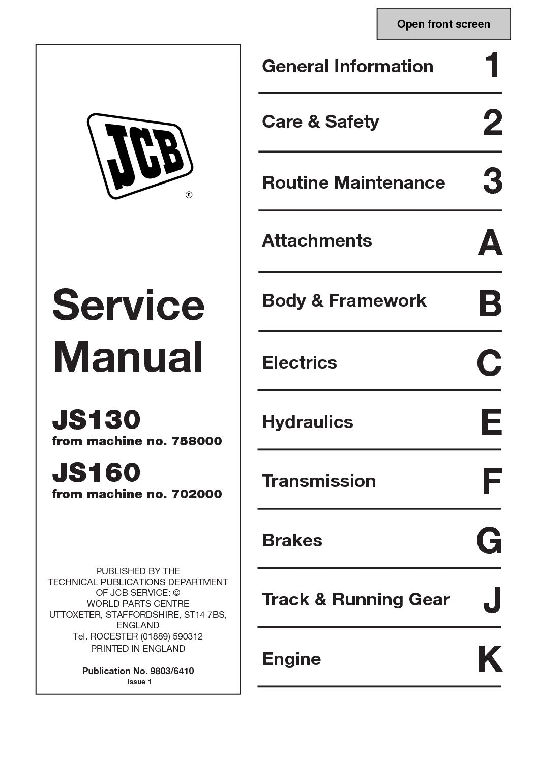 Calaméo - JCB JS130 TRACKED EXCAVATOR Service Repair Manual ... on jcb 525 50 wirng diagram, hyster forklift diagram, jcb transmission diagram, cummins engine diagram, jcb tractor, jcb parts diagram, jcb skid steer diagrams, jcb backhoe wiring schematics, jcb battery diagram,