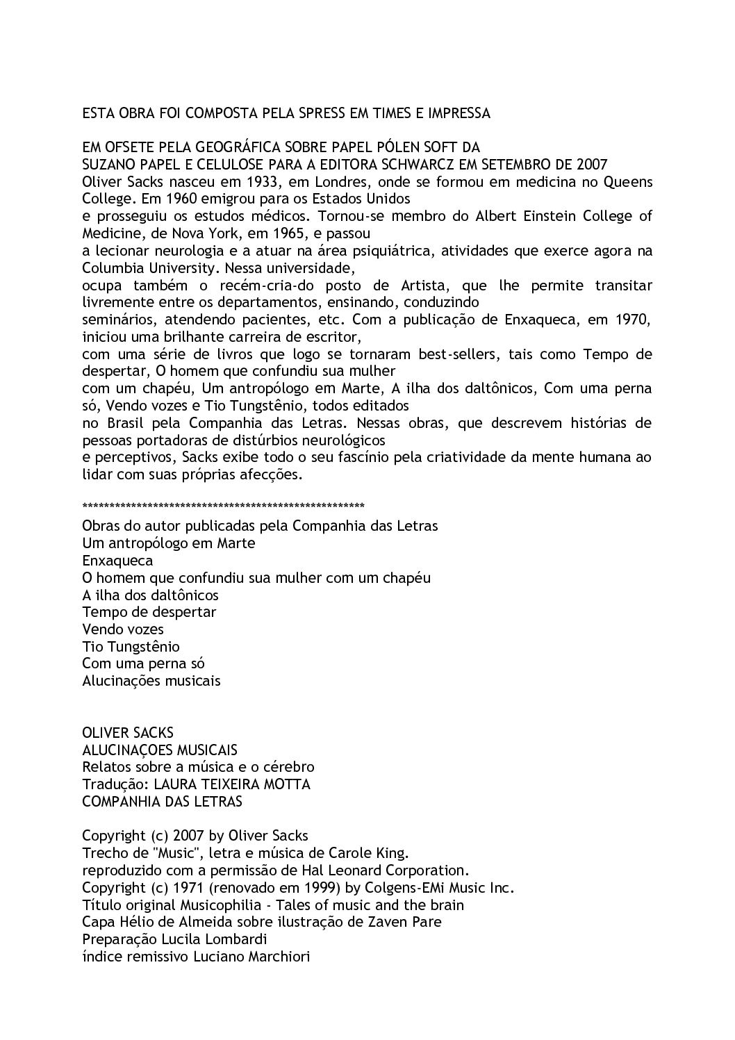 5592adcc7 Calaméo - Alucinacoes Musicais Oliver Sacks