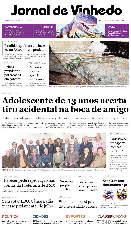 b59c9d3ea5077 Calaméo - Jornal De Vinhedo Sabado 01 De Julho De 2017 Edic 1649