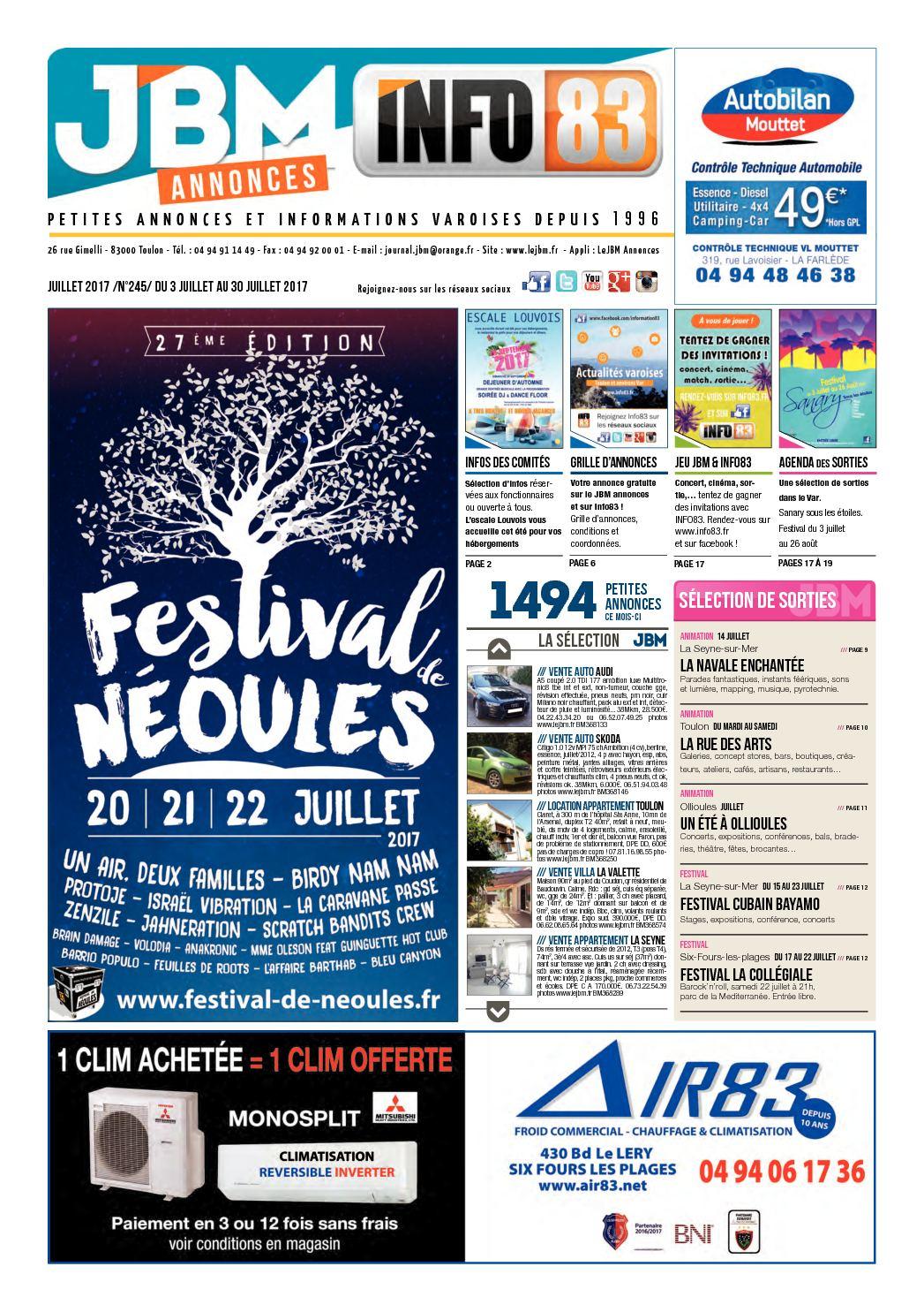ba7fd98a579e6 Calaméo - Journal JBM Annonces n°245 Juillet 2017